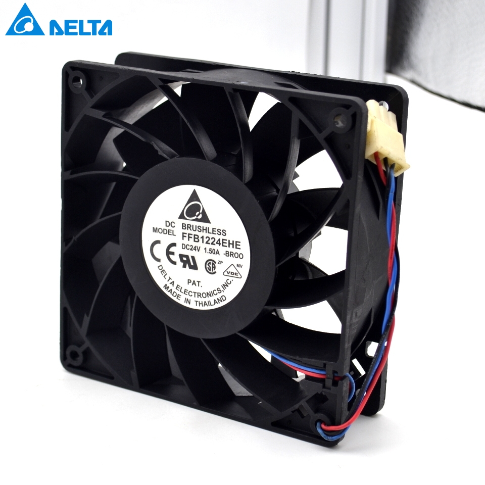 Delta New 12038 24V 1.5A 12cm inverter fan speed FFB1224EHE-FOO 120*120*38mm delta afb1212hhe 12038 12cm 120 120 38mm 4 line pwm intelligent temperature control 12v 0 7a