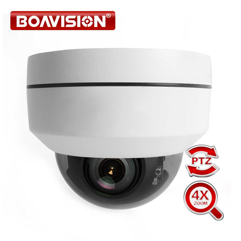 Супер Мини PTZ IP Камера Full HD 5MP открытый купол Водонепроницаемый 2MP видеонаблюдения PTZ Камера s 4X Оптический зум объектив ИК 20 м P2P