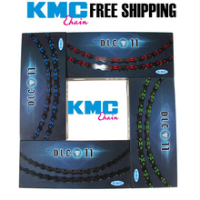 KMC Diamond Like Coating 10 Speed 11 Speed Bicycle Chain X10SL X11SL Mountain Bike Ultralight DLC Chain Cycling Road Bike Chains