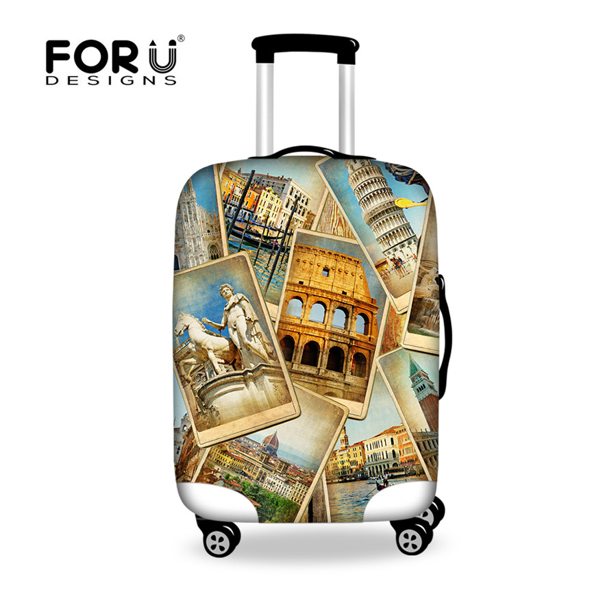 Forudesigns brand luggage protector suitcase cover european american style travel accessories for Travel gear brand