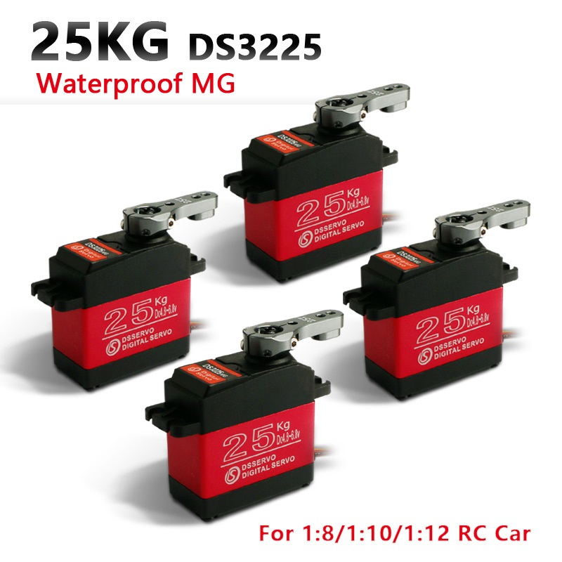 4XDS3225 atualização servo 25 KG full metal gear servo digital servo para carros baja baja servo À Prova D' Água + Frete Grátis