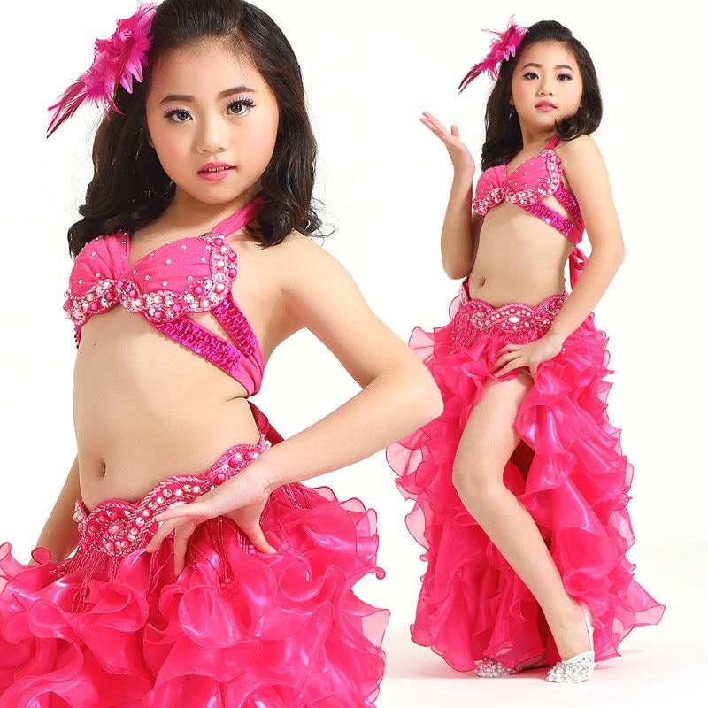New Style Belly dance costume clothes wear kids dance child bellydance children gift indian dance 3pcs