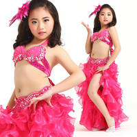 New Style Belly Dance Costume Clothes Wear Kids Dance Child Bellydance Children Gift Indian Dance 3pcs