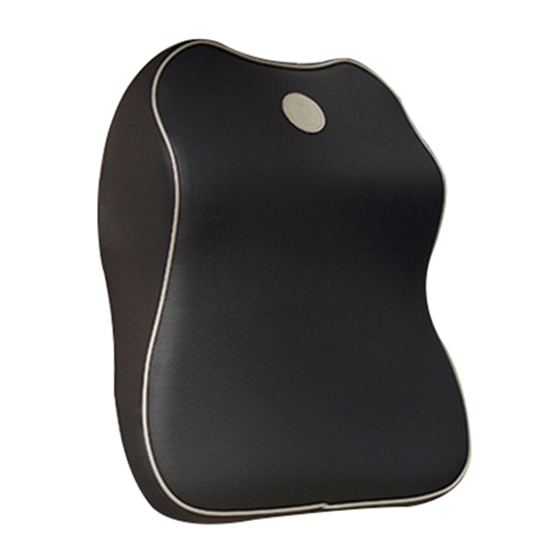 LUCKYBOBI Car memory cotton head pillow neck pillow shoulder pad car supplies interior pillow neck pillow, Black