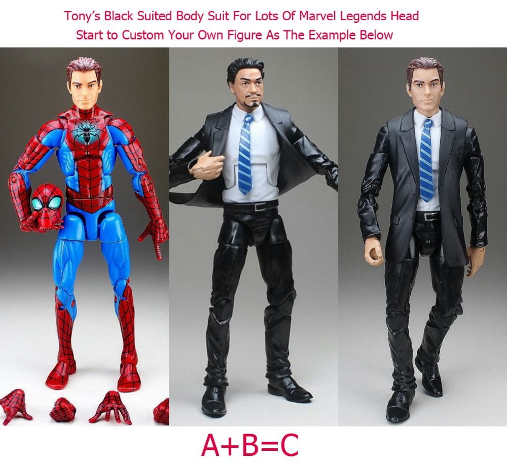 US $16 19 10% OFF|Marvel Legends Tony Stark With Head Agent Coulson Black  Suit Body Aveners All New All Different Action Figure TOY FREE SHIPPING-in