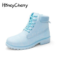 2016 New Fashion Winter Single Boots Women S Shoes Ankle Boots Martin Boots Warm Shoes Flats