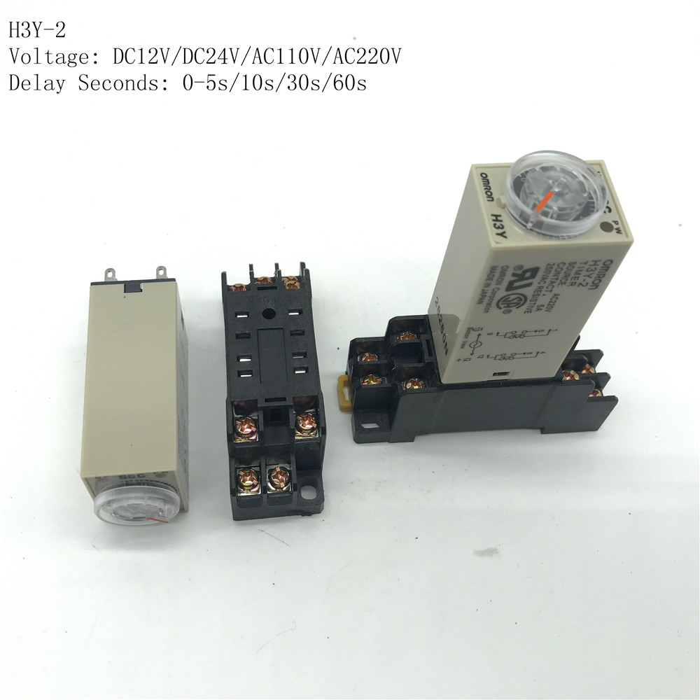 small resolution of 1 sets 12vdc h3y 2 0 5 10 30 60s seconds delay timer time relay 8 pin relay socket base pyf08a in relays from home improvement on aliexpress com alibaba