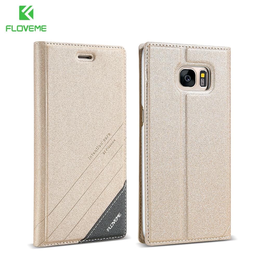 Цена за Floveme искусственная кожа флип чехол для Samsung Galaxy S5 S6 Edge Plus Чехол Слот для карты Стенд Защитите чехол для Samsung S7 края Примечание 4 5