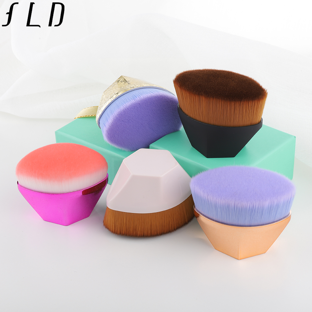 FLD 1Pcs 14 Colors Premium Foundation Brush Powder Face Makeup Cosmetic Tools Kit High Quality Portable Beauty Essential