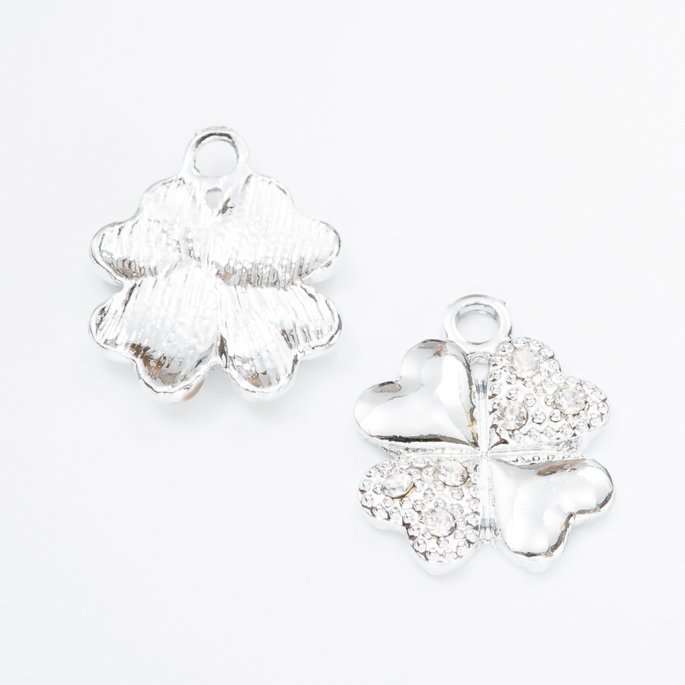 30pcs high Quality Four leaves Enamel Alloy jewelry