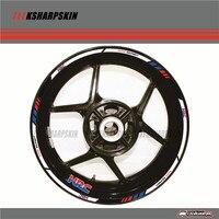12 X Thick Edge Outer Rim Sticker Stripe Wheel Decals FIT all HONDA cbr 600rr cbr1000RR