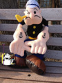 Original Big Popeye The Sailor Man Popeye With Pipe Cute Soft Stuffed Plush Toy Doll Gift for Kids Birthday Gift Collection