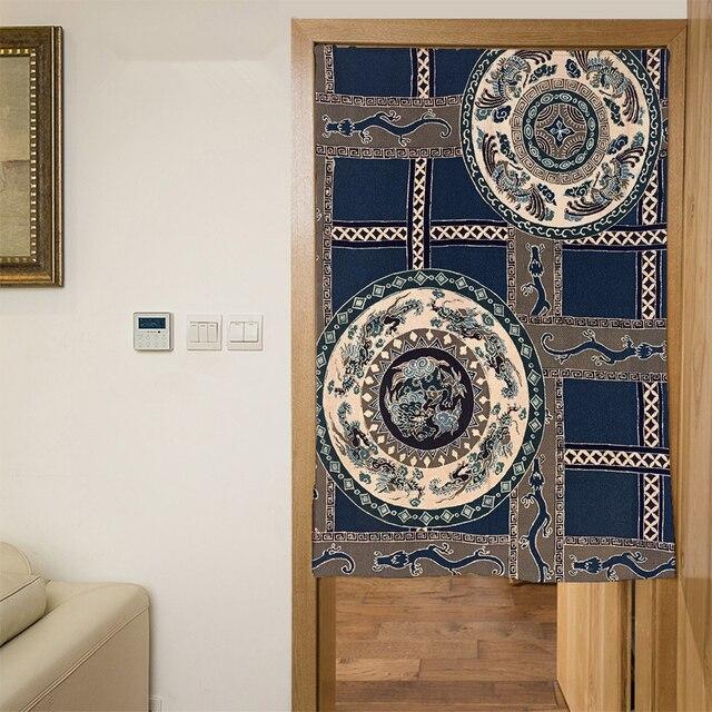 € 16.81 37% de réduction|Personnalisé 3D porte rideaux panneau japon bambou  encre peinture motif Polyester cuisine rideaux chambre rideaux pour ...