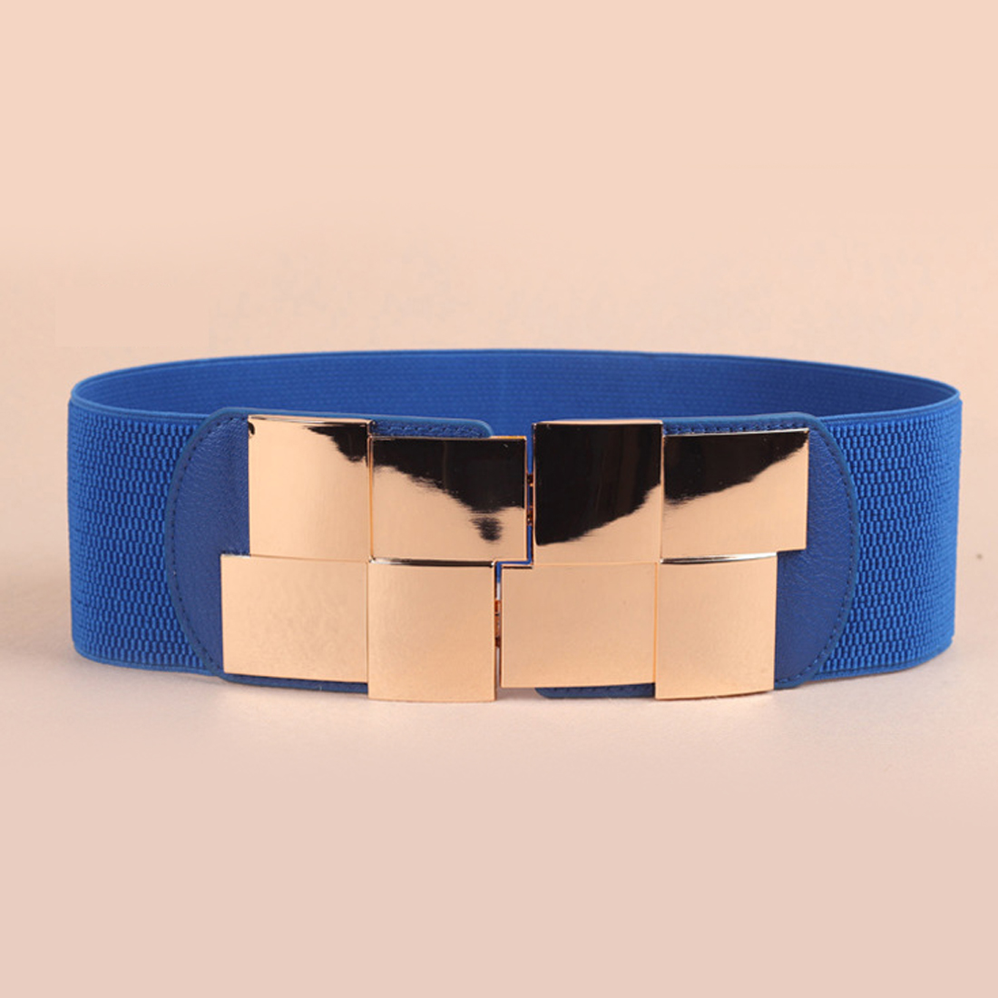 Outdoor Dream Store Hot Fashion Women Belt Korean Stretch Elastic Waistband Wide Metal Waist Belts Simple box mirror girdle sexy lady