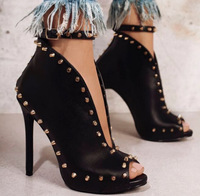 Womens High Heels Platform Stilettos Black Women Pumps Ankle Strap Sexy Ladies Party Shoes Spike Dropshipping