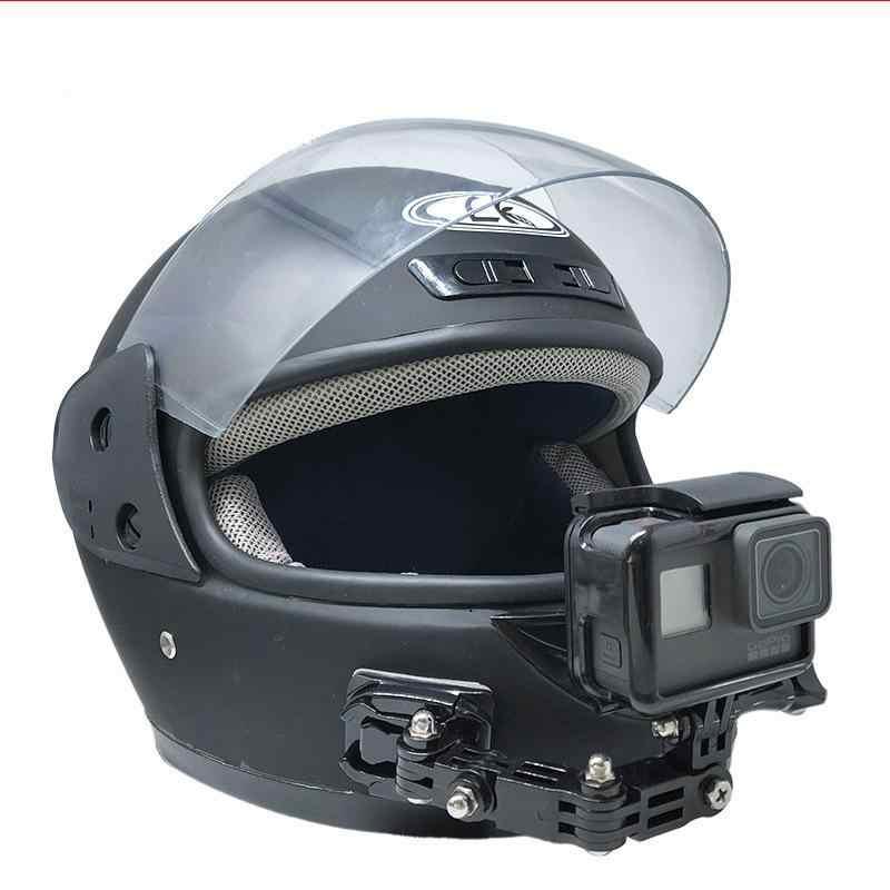 Cho GoPro HERO6/5/4 Xe Máy Cằm Gắn Máy Ảnh Bộ Mũ Bảo Hiểm Cằm Ốp Cho Máy Ảnh Thể Thao R60