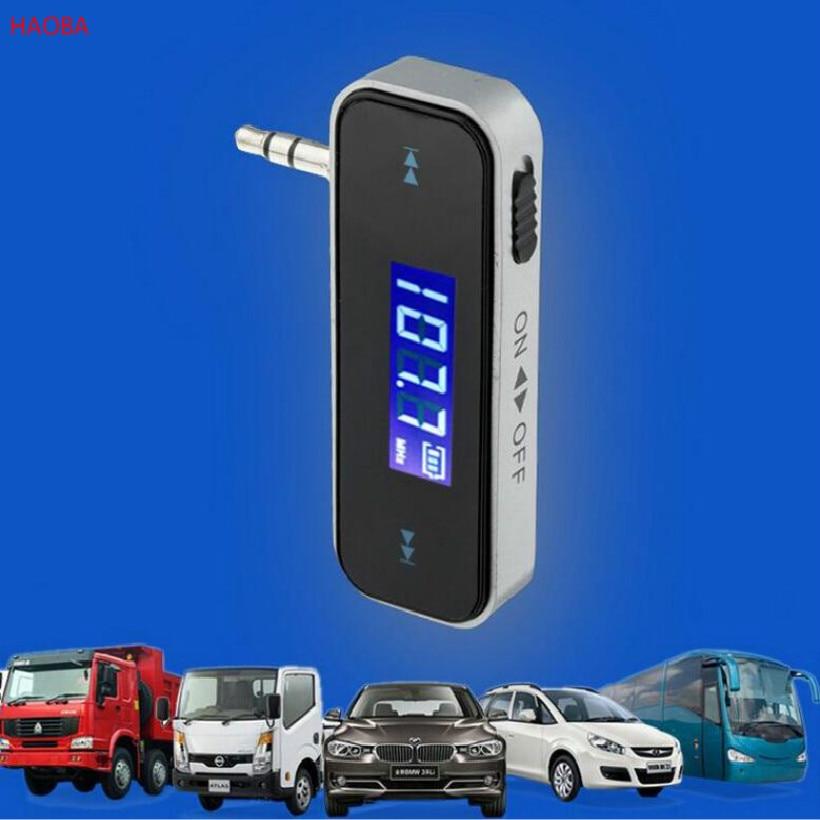 Interface dupla 3.5mm fm carro transmissor modulador fm carro mp3 player usb handfree frete grátis