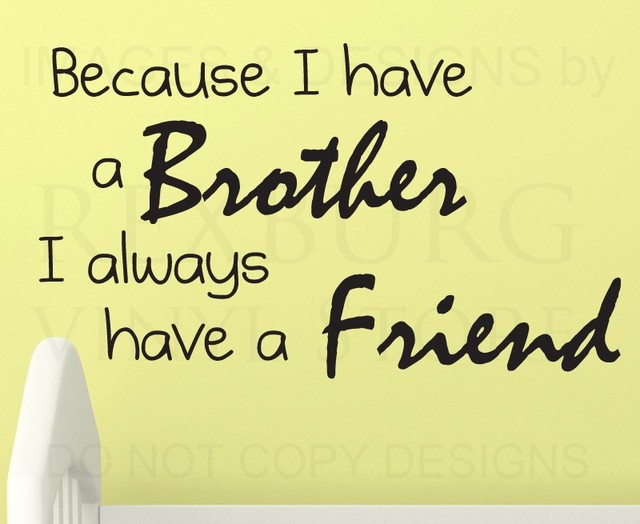 BucKoo Wall Decal Sticker Quote Vinyl Art Lettering Brothers Always ...