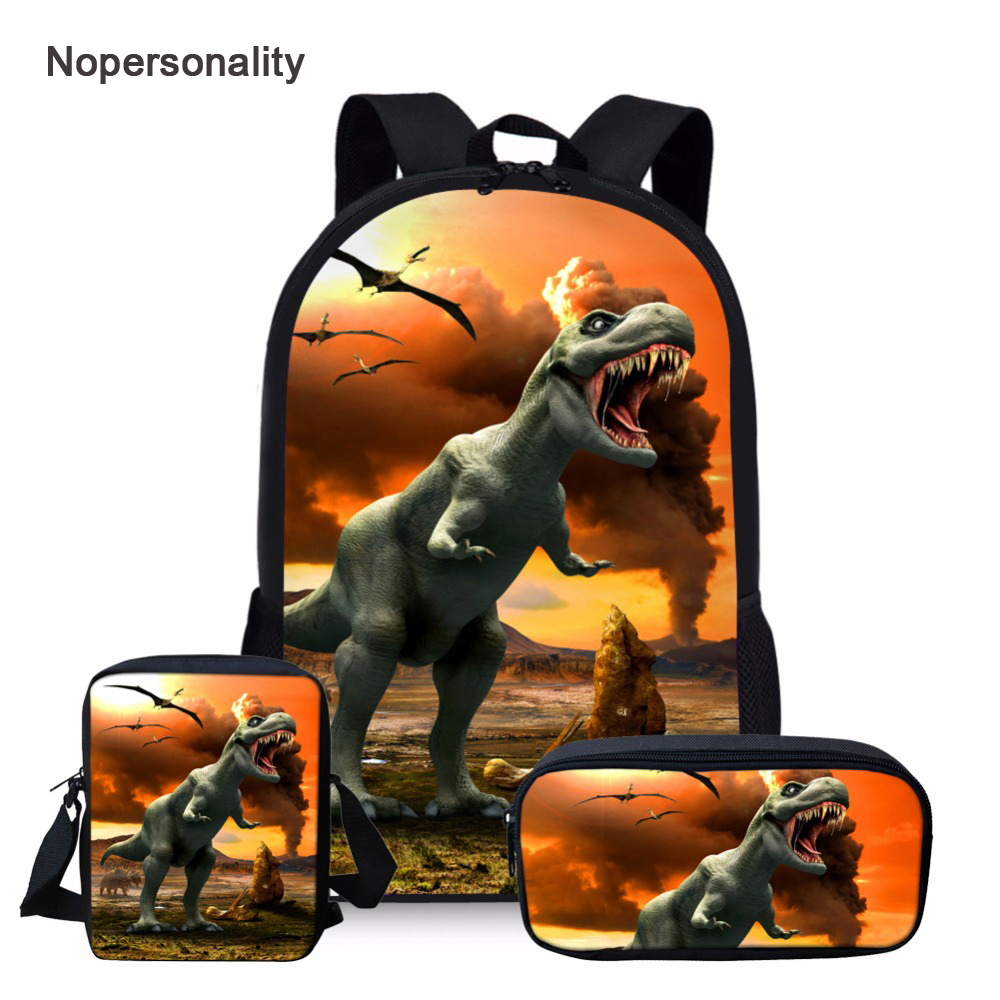 Nopersonality Cool Dinosaur Backpack For Boys Schoolbag Tyrannosaurus Rex Kids Schoolbag Primary Children Backpack Sac A Dos