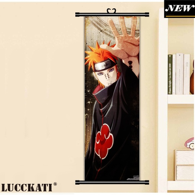 45X135CM Naruto Uzumaki uchiha itachi ninja madara obito cartoon anime wall picture mural poster scroll cloth canvas painting 2