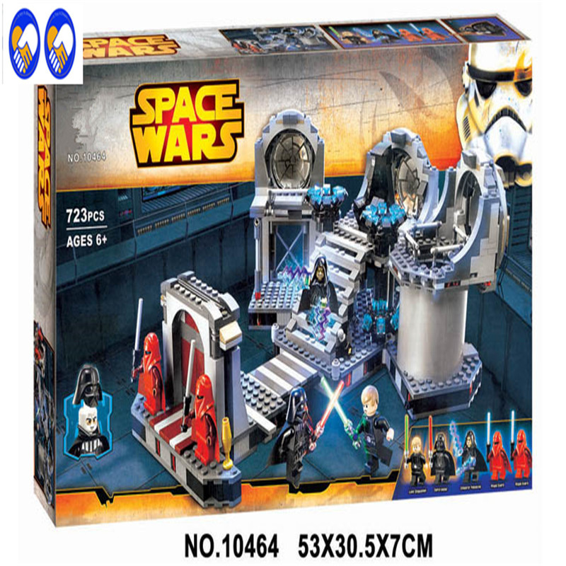 A Toy A Dream NEW 10464 Star Wars series the Death Star Final Duel model building block Classic Toys Compatible with Lepin 75093 10464 bela star wars death star final duel model building blocks classic enlighten figure toys for children compatible legoe