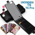 Clássico Luxo Avançado Top de Couro Colorido Flip Casos De Couro Para Doogee t6 pro case capa com slot para cartão para doogee t6 case