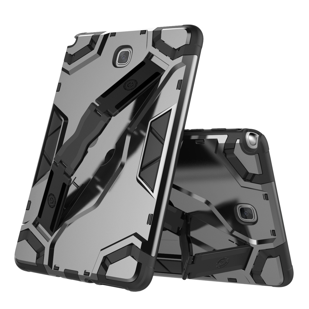 Shockproof Armor TPU+PC Portable Hand Strap Stand Tablet Cover For Samsung Galaxy Tab A 8.0 Inch 2015 T350 T355 Protective Case