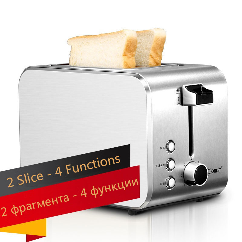 Wide Self Centering Toaster Slots Easy Clean Bread Makers Toaster Bread New Waffle Makers  Тостер