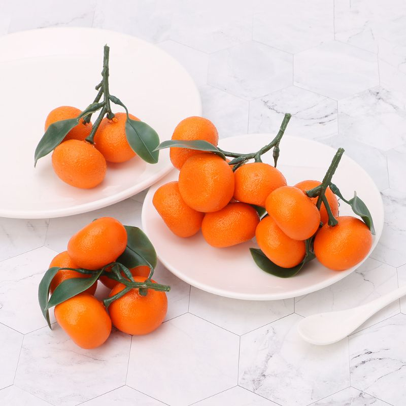Realistic Lifelike Artificial Tangerine Fruit Oranges Fake Display Food Decor Home Party Decor W229
