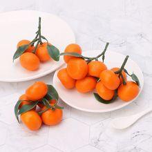 Realistic Lifelike Artificial Tangerine Fruit Oranges Fake Display Food Decor Home Party Decor W229