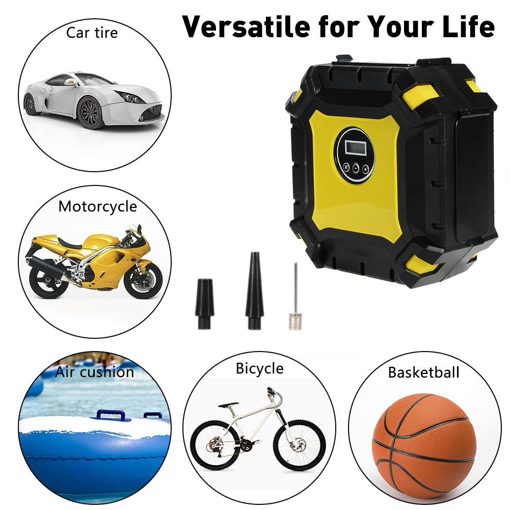 Dragonpad TP02 / BSD6022 Tire Inflator Digital 12V Portable Automatic Pump Air Compressor Electric Car Tire Inflator