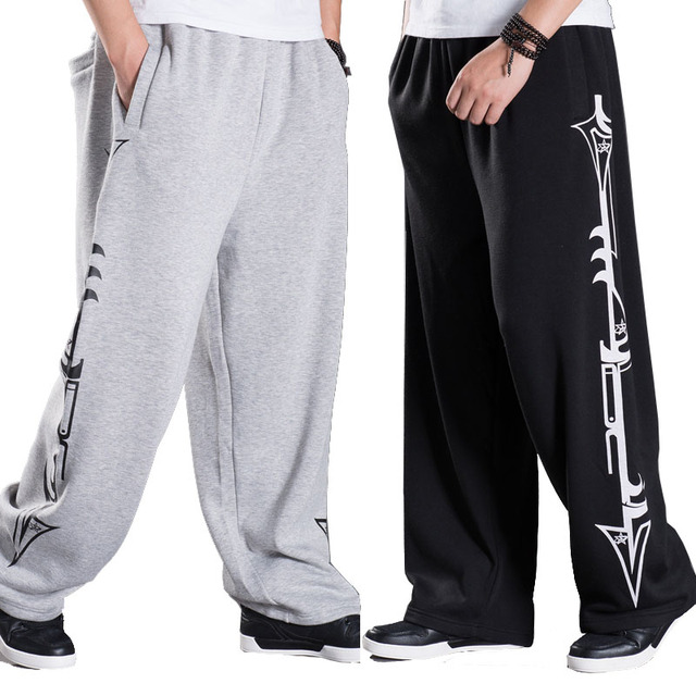 Baggy Joggingbroek Mannen.Lente Winter Big Size Hip Hop Joggers Mannen Casual Fleece