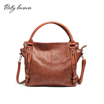 BATTY BANANA Casual Tote Bags Solid Shoulder Bag Female High Quality Bags Womens Handbags Famous Brands Handbag Tote tote bag