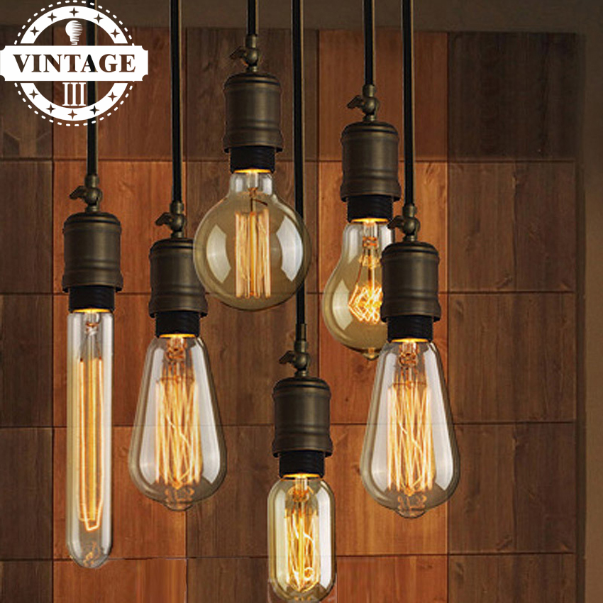 Lightinbox Edison Light Bulb E27 Light Bulbs ST64 G80 G95 A19 T10 Squirrel-cage Filament Bulb Edison Lamp