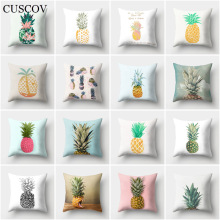 CUSCOV fruit geometry sofa cushion cover creative pineapple polyester wedding decoration pillow case car seat gift