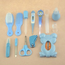 13Pcs Baby Care Gift Set Neonatal Thermometer Nail Clippers Trimmer Tweezers Scissors Nail Care Grooming Healthcare Kit