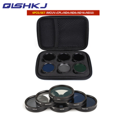6Pcs Filters Set ND4+ND8+ND16+ND32+MCUV+CPL Multi-layer Coating Lens Filter for DJI Phantom 4 PRO/ PRO+/Advanced+ Free Shipping
