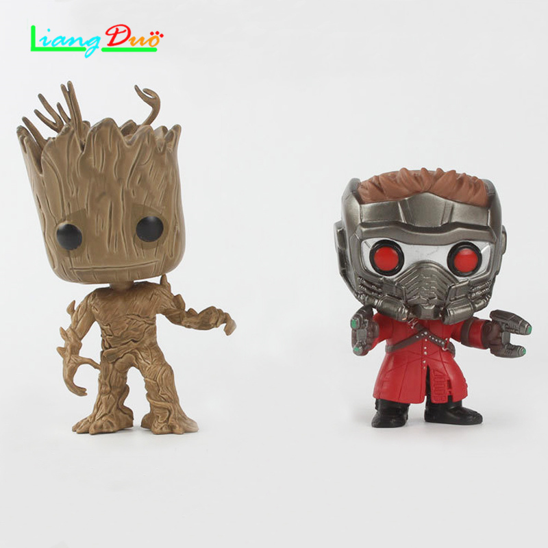 Guardians Galaxy playmobil cuadro de Star-Lord Racoon Boom Man Anime Action Figure Pop PVC Model plastic hot toys collectibles