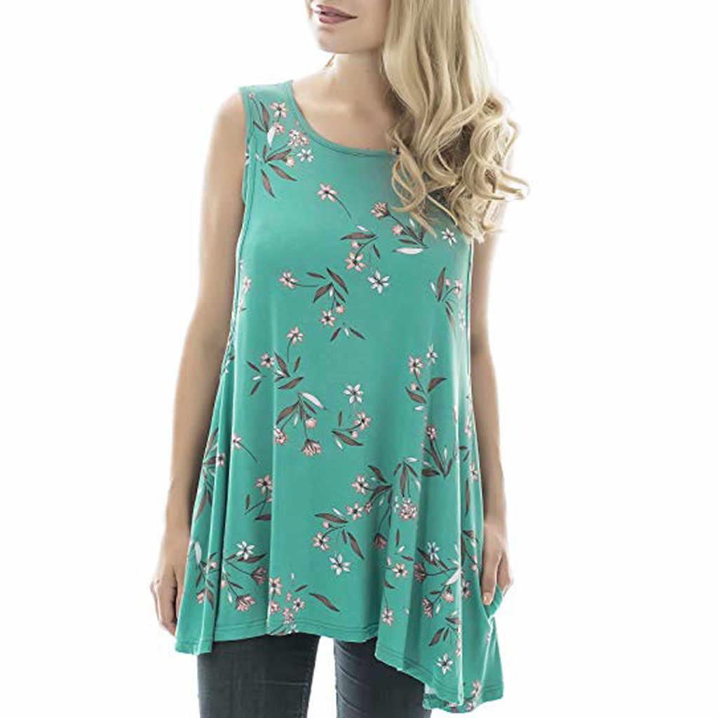 Топ для кормящих женщин, летнее, без рукавов, Цветочный, Повседневная футболка для кормления грудью, Одежда для беременных Ropa Embarazada 19A10