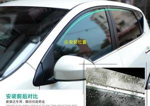 4 шт. автомобильный Стайлинг двери окна ветрового козырька литье тенты Щит дождь Солнце защита от ветра тенты для Hyundai i20 2010-2017