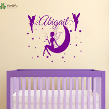 YOYOYU Wall Decal Vinyl Removeable Fairy Decals Girl Name Mural Baby Nursery Kids Bedroom Poster wall sticker YO371