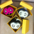 Free shipping cute owl bird grimace little monster mink fur bag bugs fashion small pendant accessories Lafayette Karlito