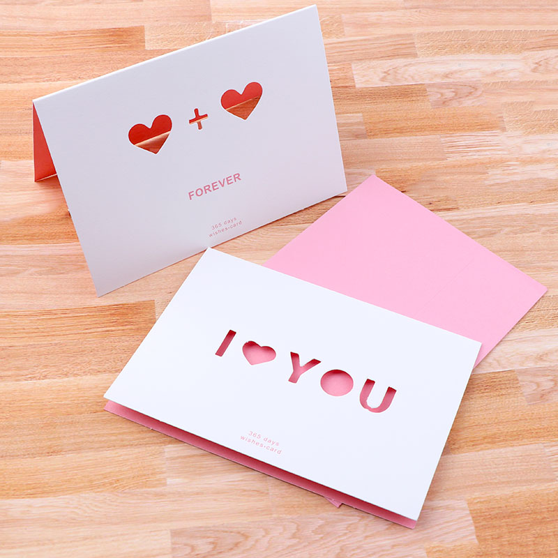 Greeting Cards Paper Hollow Out Heart Love For Birthday Wedding Party Decoration Gift Candy Box Craft DIY Favor Baby Shower Kids