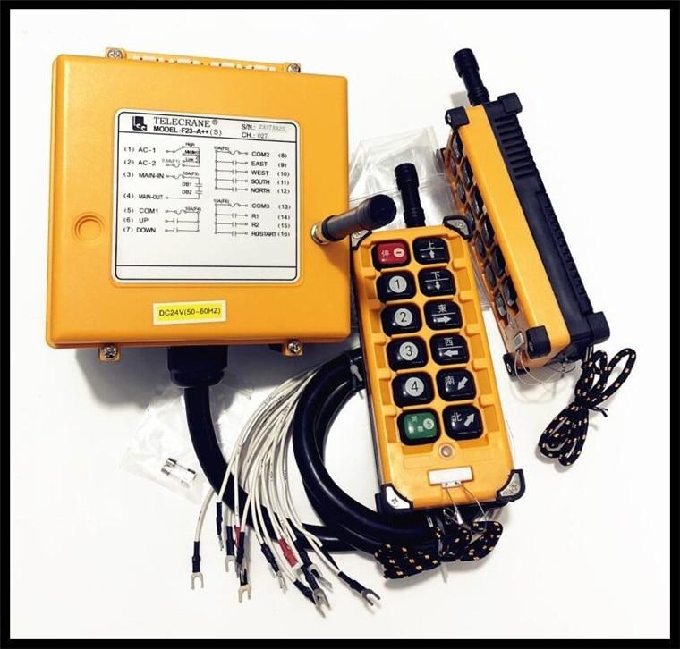 F23 A Transmitter x2 Receiver x1 DC24V AC36V Industrial Radio Remote Control Hoist Crane Control Lift