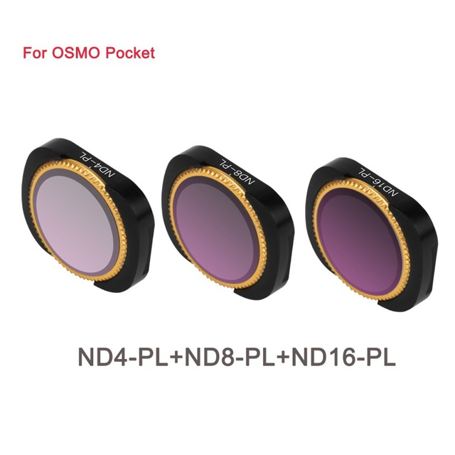 3Pcs Aluminum Alloy Magnetic Adsorption No Damage CPL ND8 4 16 32 64 Lens Filter Set  For DJI OSMO Pocket Camera Stabilizer