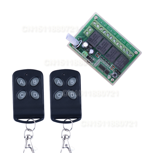 High Sensitivity  DC 12V 4CH Small Channel Wireless Remote Control Controller Radio Switch 433.92mhz 200m Transmitter Receiver new arrival dc 12v 4ch small channel rf wireless remote control radio switch 433mhz transmitter receiver 200m high sensitivity