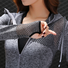 Обновленная женская спортивная куртка с дышащей полой молнией, толстовки для фитнеса, тренировок, с длинным рукавом, быстросохнущая спортивная рубашка