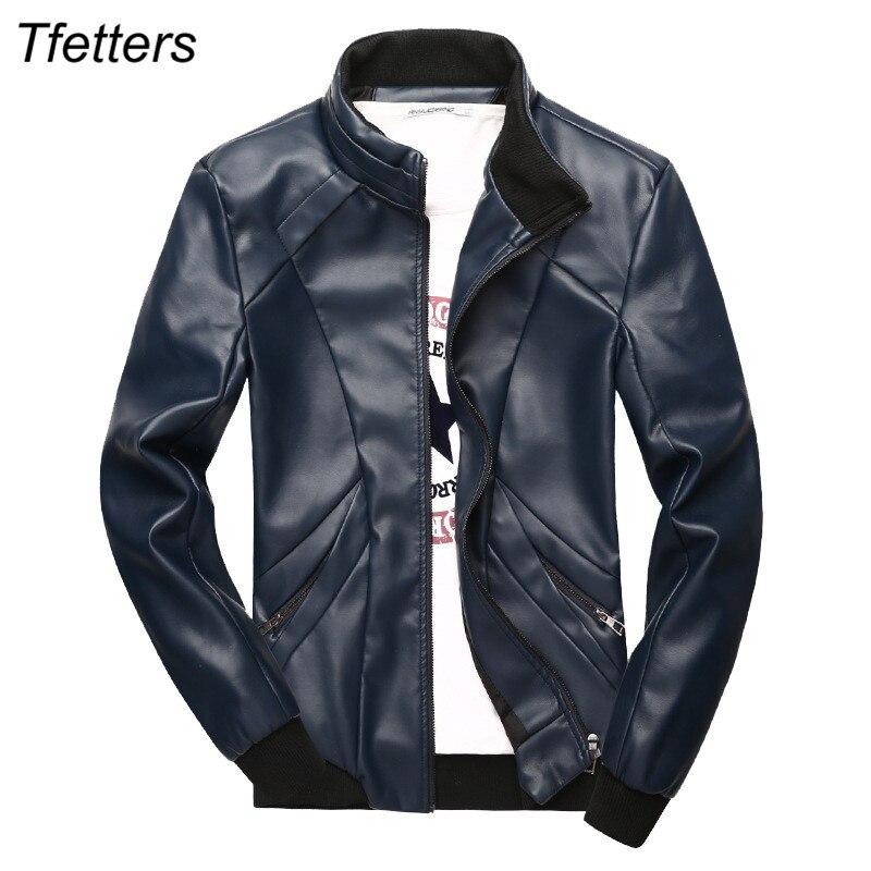 2017 Men's Pu Leather Jacket Brand Jacket Mens Windproof & Waterproof Motorcycle Jacket Coats Casual Outwear Plus Size M-5xl