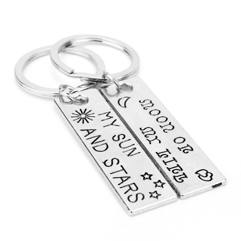 dongsheng Game of Thrones Keychain Manual lettering Moon of My Life, My Sun and Stars Perndant Couple Keychain for Bag Car-50