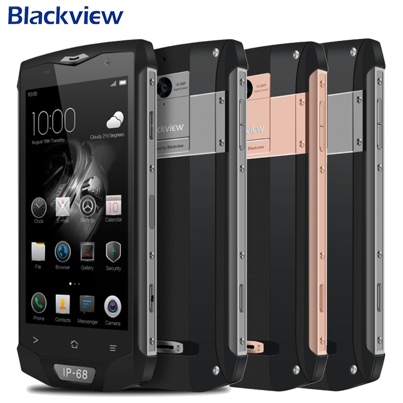 Original Blackview BV8000 Pro IP68 Tri proof Cell Phone 5.0 RAM 6GB ROM 64GB MTK6757V Octa Core 16MP Camera 4180mAh Smartphone